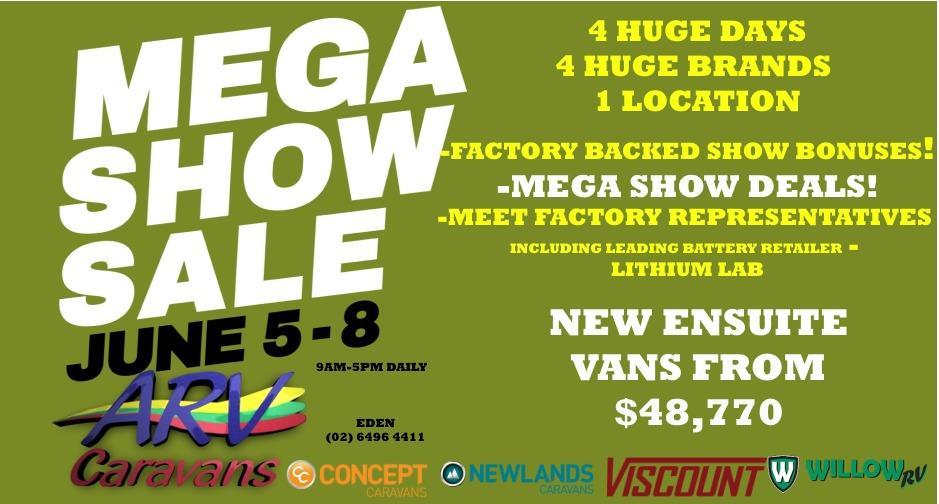 ARV Caravans Mega Show Sale